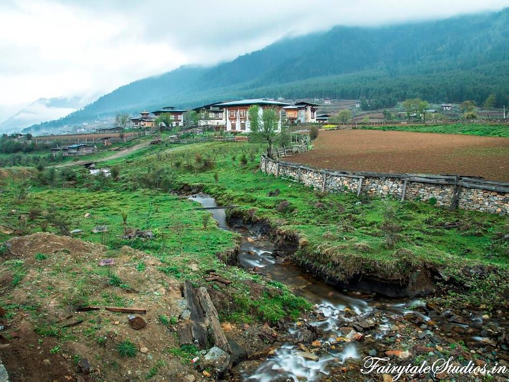 The beautiful Phobjikha or Gangtey Valley, Bhutan