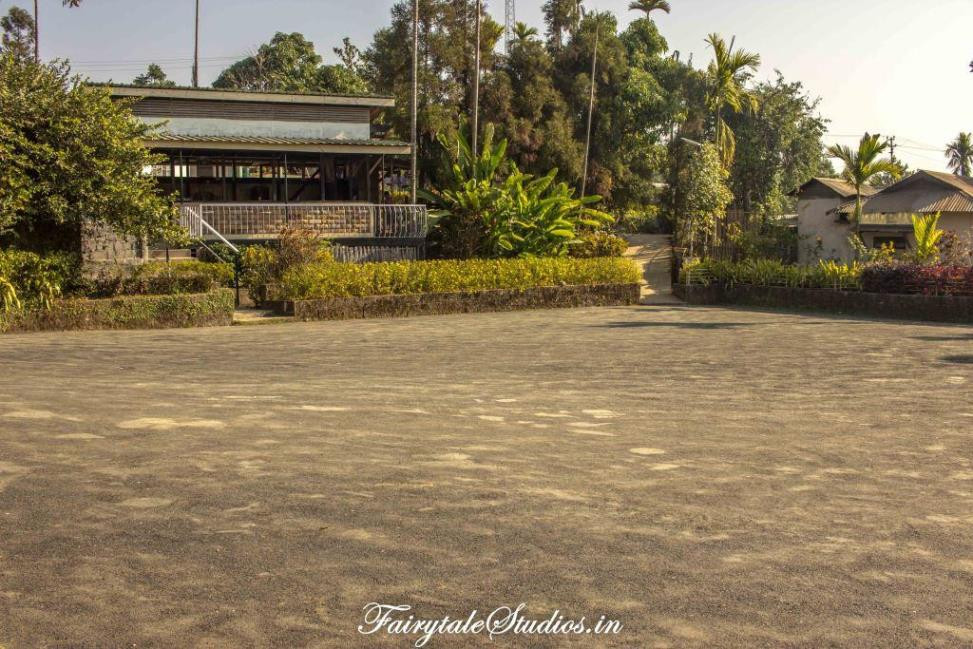 Main parking ground in Mawlynnong