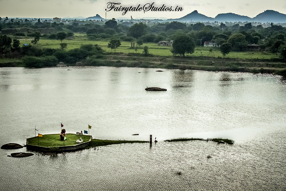 ekashila lake near warangal fort seen from hill inside ekashila childrens park