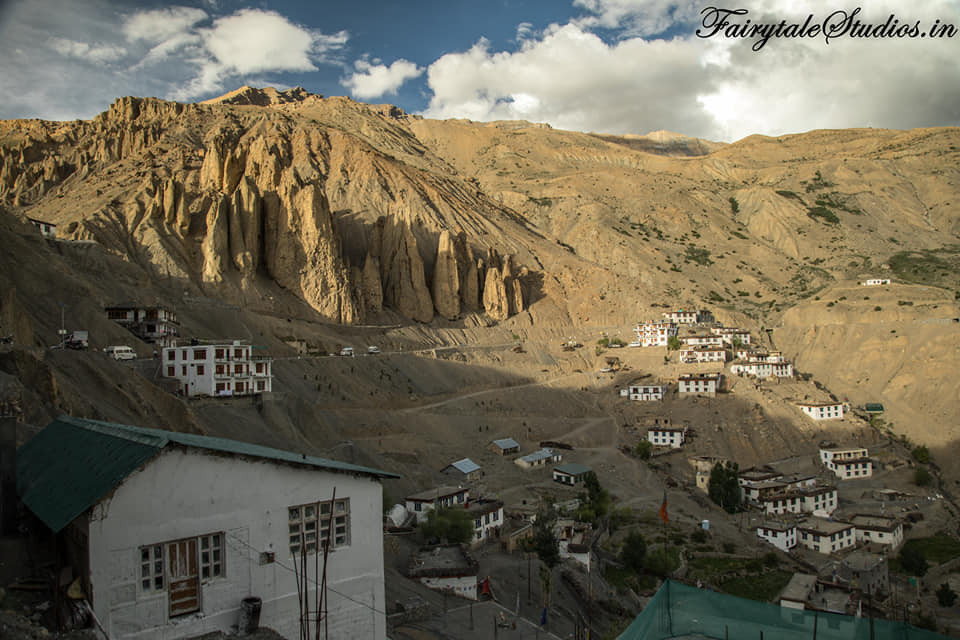 Dhankar Village as seen from the Dhankar monastery, Spiti Valley_Himachal Pradesh, India