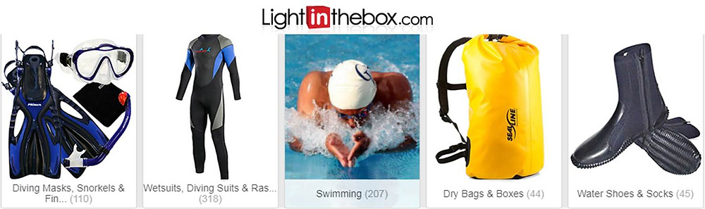 Buy diving equipments, apparels and more