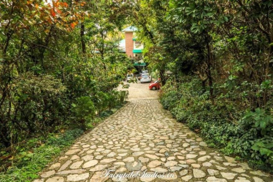 Pathway leading to common parking of Walterre and Shaheen bagh