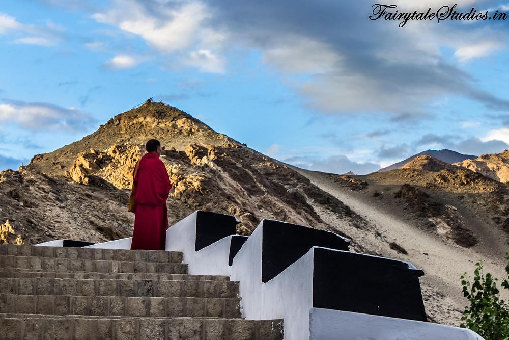 A monk in Thiksey gazing into nothingness (The Zanskar Odyssey)