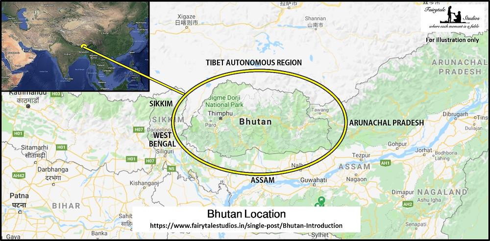 Bhutan is sandwiched between China's Tibet Autonomous region and India - The Bhutan Odyssey