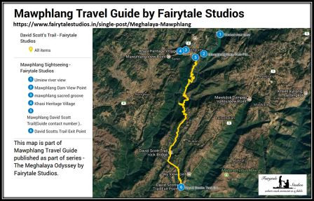 View or download map containing places to see in Mawphlang