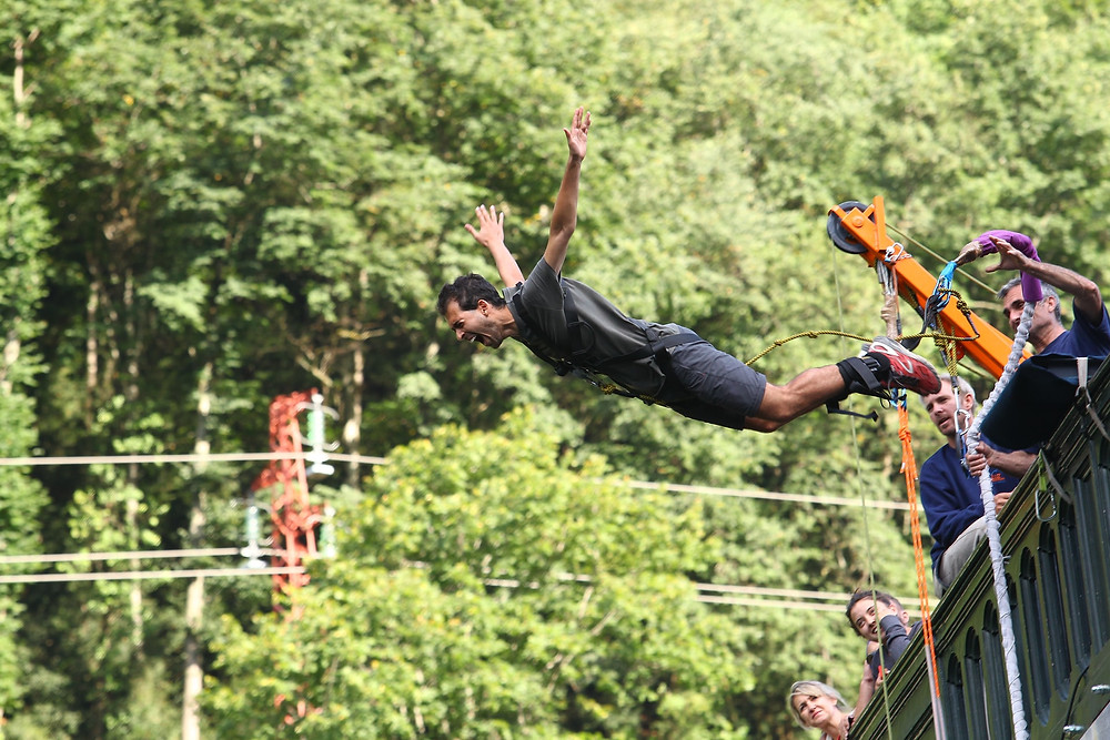 Bungee jumping in Rishikesh, Uttarakhand - India_Adventure sports in India