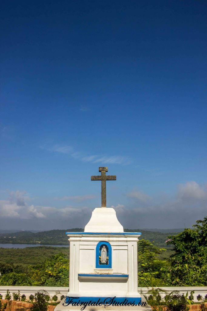 Panoramic view of Divar Island from the Church of Our Lady of Compassion, Goa