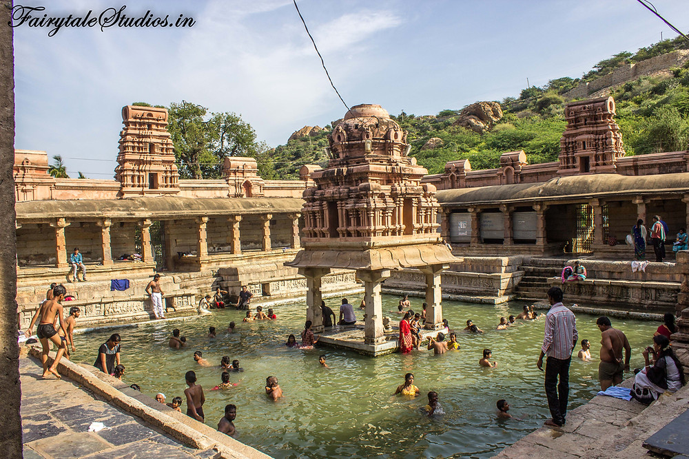Pushkarini - a small fresh water pond in Yaganti