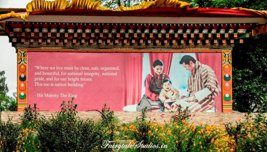 The 5th King of Bhutan - Jigme Khesar Namgyel Wangchuk along with his wife and child - The Bhutan Odyssey