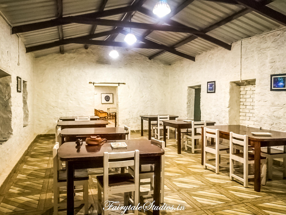 The dining area connected to recreation room is charming @ The Pear County, Kodaikanal