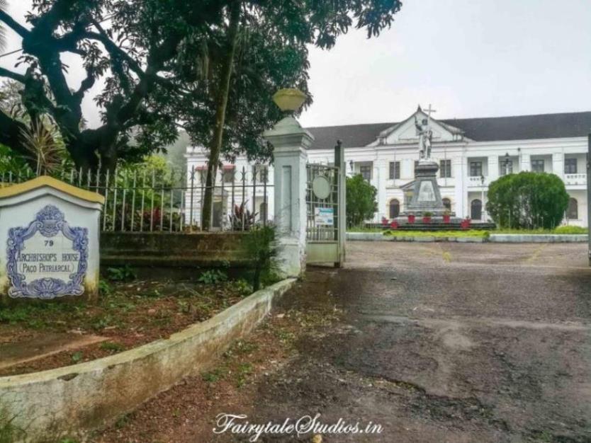 Archbishops palace on Altinho hill in Panjim, Goa