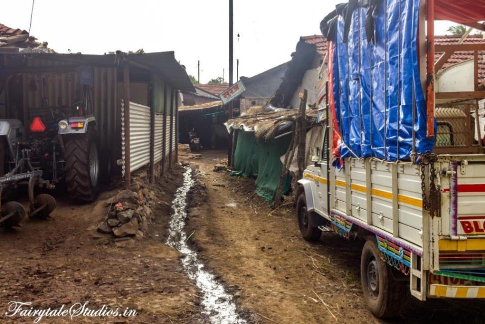 The houses in Purushwadi village, Maharashtra - India