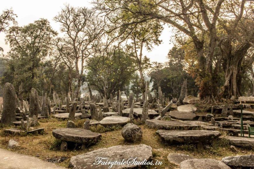 Monoliths at Nartiang in Jaintia hills of Meghalaya, India
