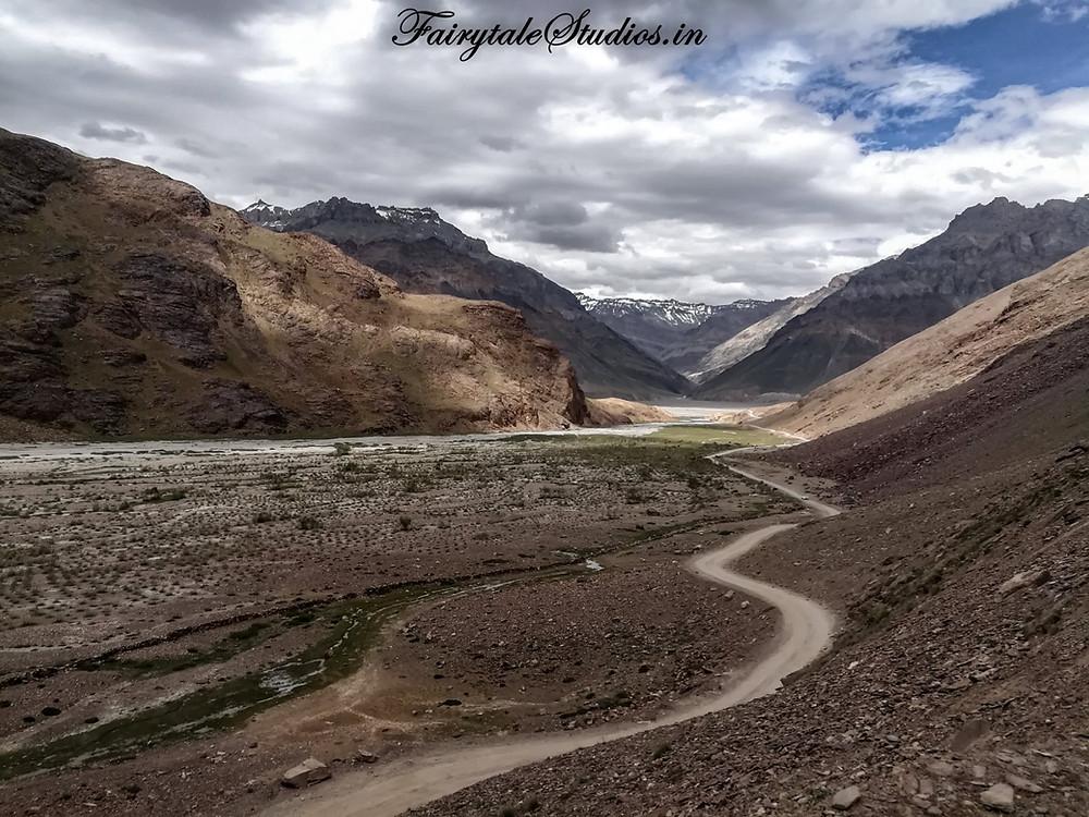 Road from Kaza to Chandratal Lake, Spiti Valley - Himachal Pradesh, India
