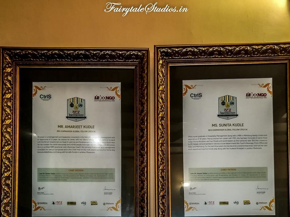 Awards recieved by Kudles of La Villa Bethany, Landour (near Mussoorie), Uttarakhand - India