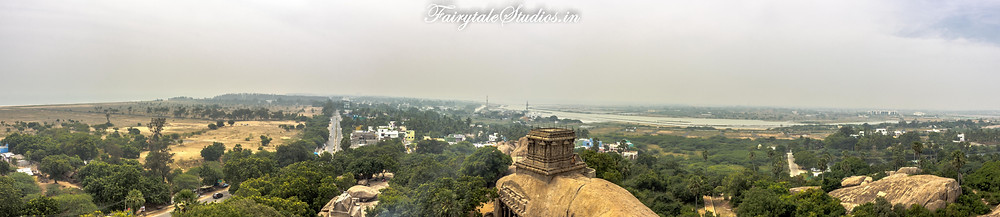 A panaromic view of Mahabalipuram