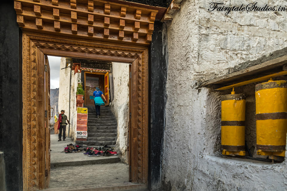 Entrance to the old Dhankar monastery, Spiti Valley_Himachal Pradesh, India