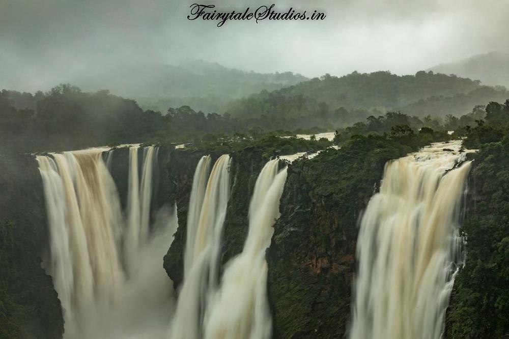 The majestic streams of Jog Falls, Karnataka - India
