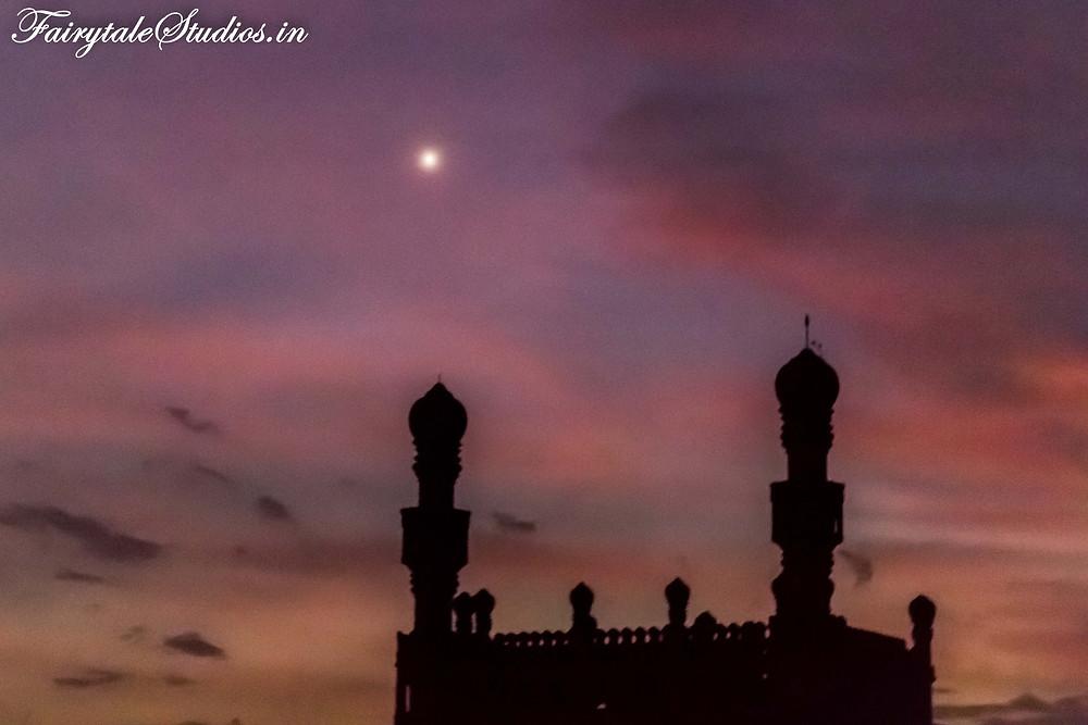 Mosque within Gandikota fort at twilight