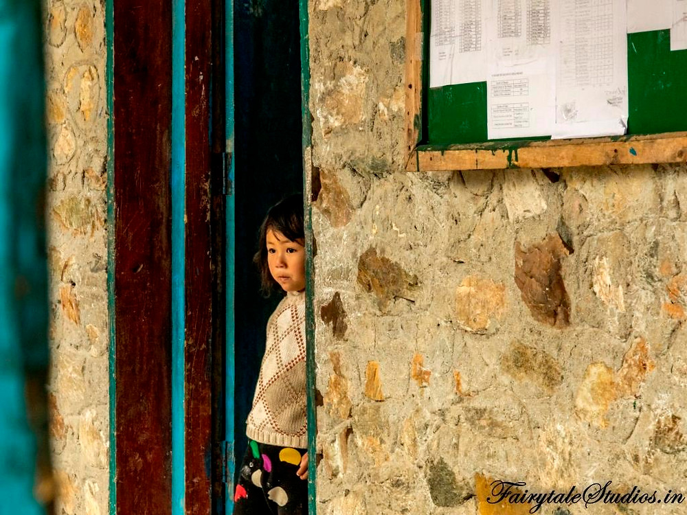 A kid in one of the classroom in a school in Phuentsholing, Bhutan_Bhutan photoblog