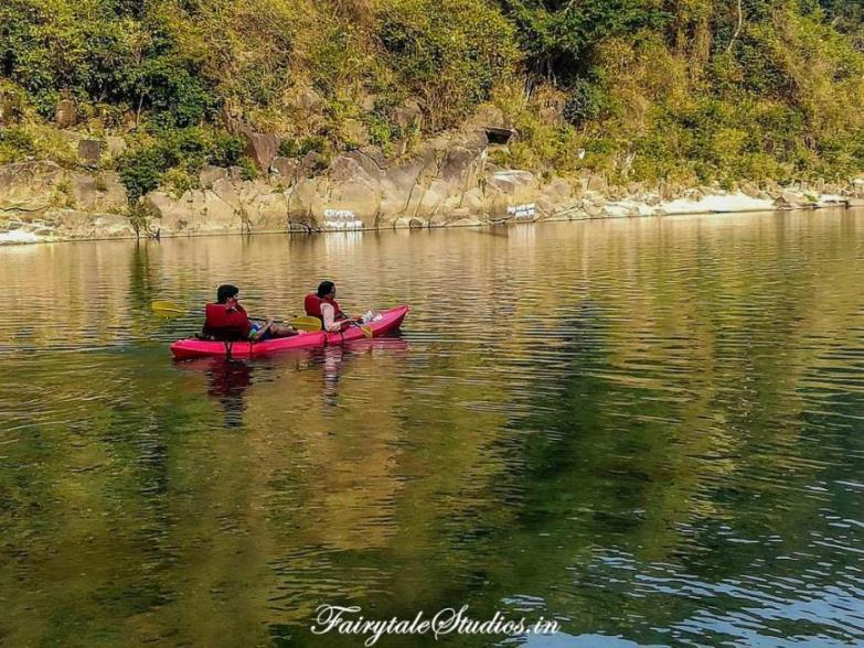 22. Shnongpdeng_Kayaking at Pioneer Adventures campsite near Umngot river_The Meghalaya Odyssey_Fairytale Travel blog
