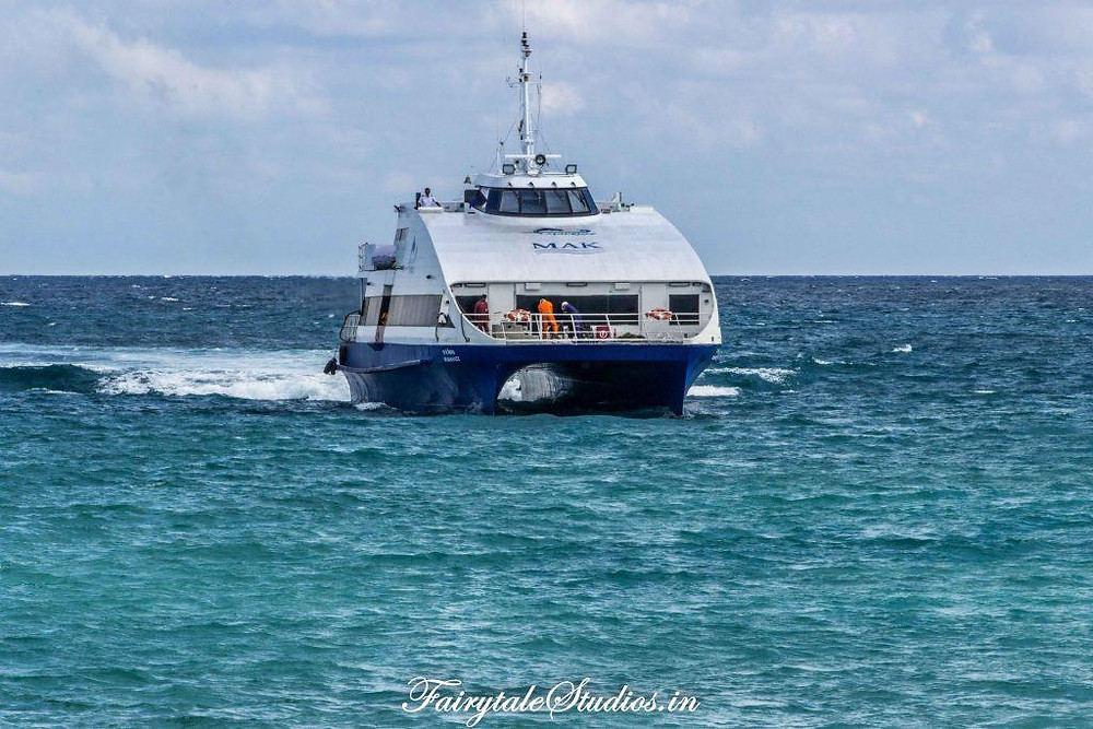 Makruzz powering through the Andaman Sea is a backbone for inter-island transportation withing Andamans