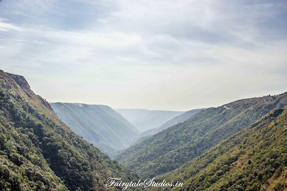 The lovely valleys of Cherrapunji or Sohra play a big role in bringing immense rainfalls here