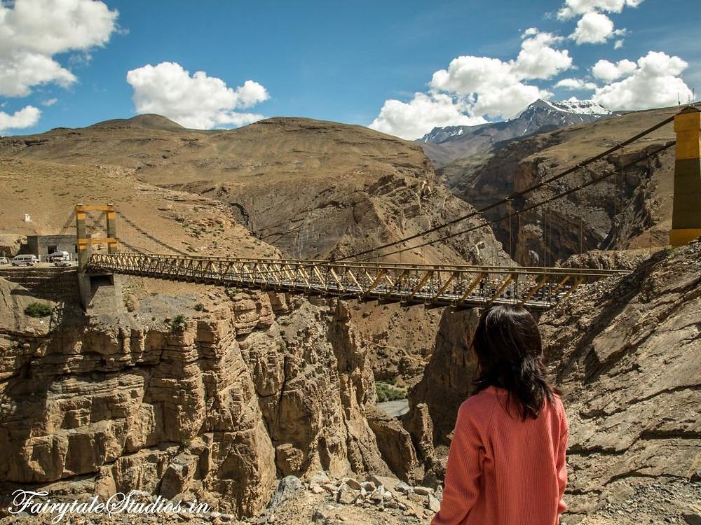 Chicham bridge - Asia's highest suspension bridge in Spiti Valley, India