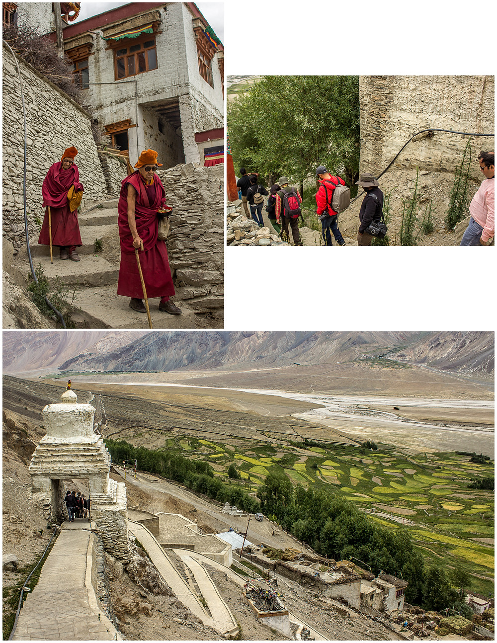 Leaving Karsha Monastery on our way back to our vehicles (The Zanskar Odyssey Travelogue)