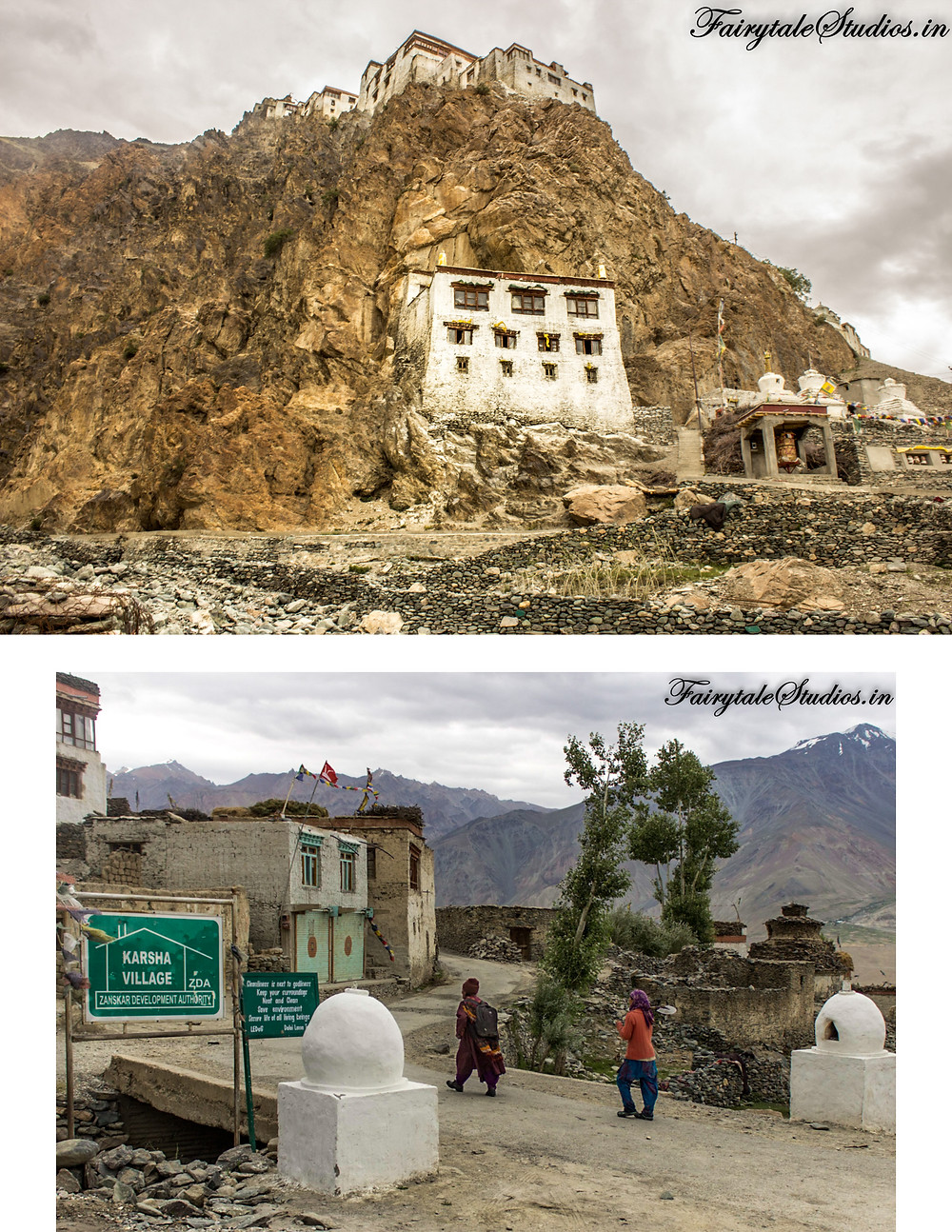 Leaving the Karsha monastery and village in pure amusement (The Zanskar Odyssey Travelogue)