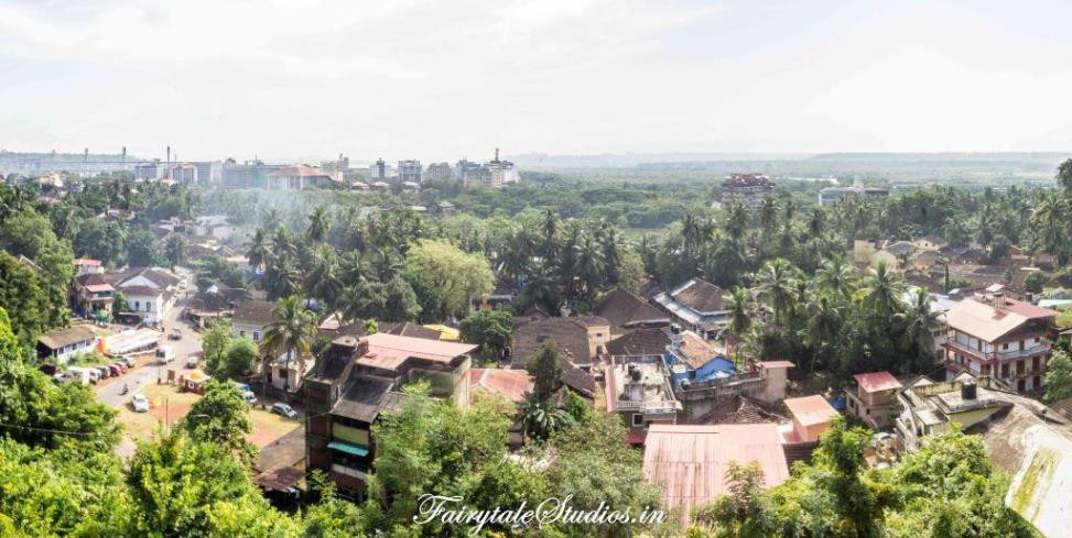 View of Old Goa from Maruti Temple on the hill of Altinho