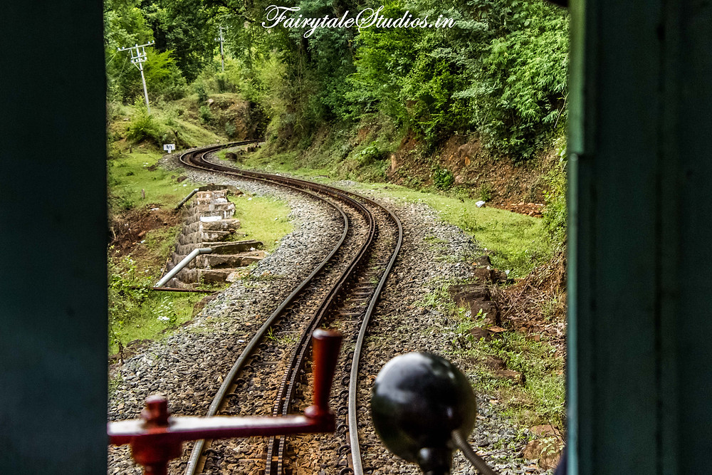The railway track has numerous curves making the journey more eventful