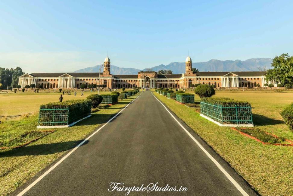 The iconic brick building of Forest Research Institute, Dehradun - Uttarakhand, India