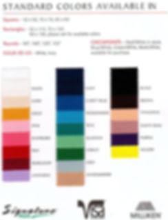 Linen Color and Sizes
