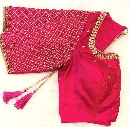 Zari gridwork blouse