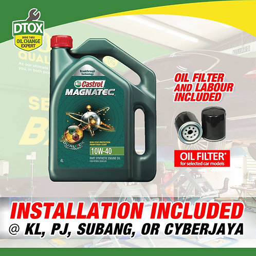 Castrol Magnatec Engine Oil 10W-40 Semi Synthetic Oil SNCF 4L