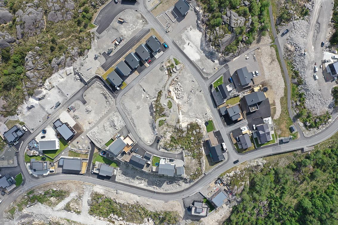 Dronefoto trinn 2, Lasteinveien 97-107