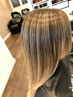 balayage with EVO hair treatment