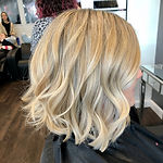 blonde highlights graduated bob
