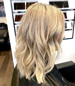 blonde highlights white balayage rosie b