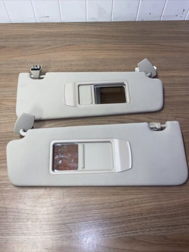BMW 7 F01 3.0d  Left Right Side Sun Visor Pair  2014 Beige Colour