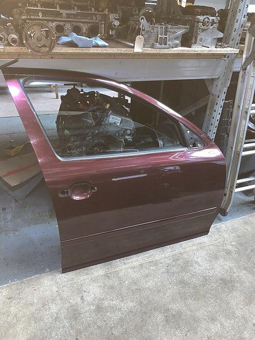 GENUINE 2010 - 2012 Skoda Octavia MK2 OSF Driver FRONT DOOR Bare Red 9893 Colour