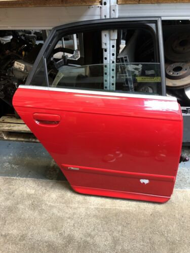 Audi A4 B7 S Line 2006 Off Side Rear Drivers Side Rear Door BRILLIANT RED LY3J