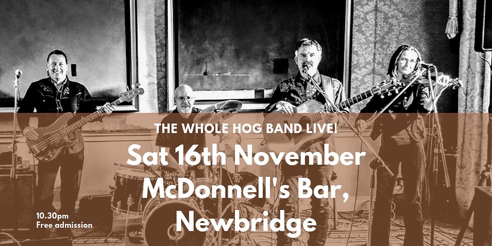 The Whole Hog Trio, live in McDonnell's, Newbridge