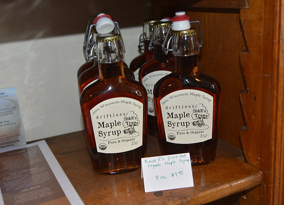 B&E Tree's Pure & Organic Maple Syrup