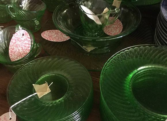 Spiral Depression Glass