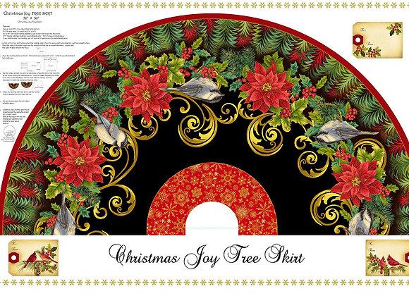Christmas Joy Tree Skirt Panel