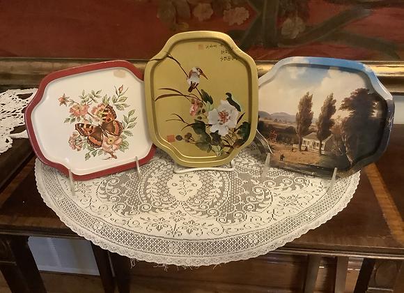 Vintage Tin Trays