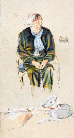 Pastel Portrait of Artist Craigie Aitchison R.A