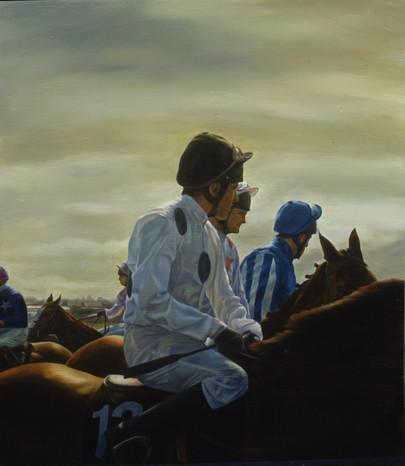 Jockeys Aintree Watercolour